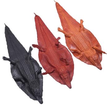 HG1251-52-53 - Da thuộc da cá sấu nguyên con có đầu nhiều màu