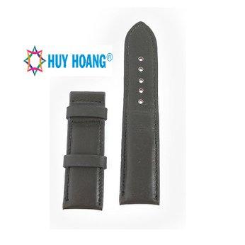 HG8138 - Dây đồng hồ Huy Hoàng da bò size lớn màu xám