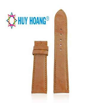 HD8440 - Dây đồng hồ Huy Hoàng da đà điểu da bụng màu vàng bò
