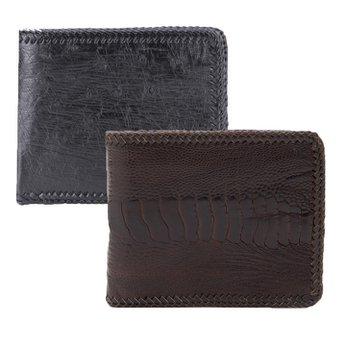 Bóp nam da đà điểu đan viền nhiều màu HG2416-17.