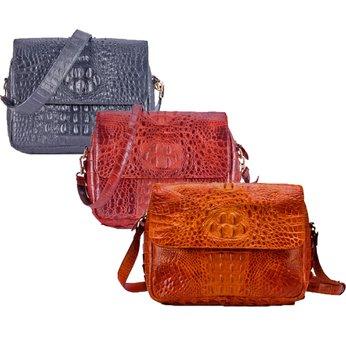 Túi xách nữ Huy Hoàng da cá sấu hộp vuông nhiều màu HG6201-02-03