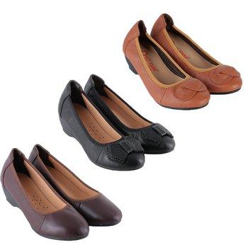 HG7938-39-40 - Giày nữ da bò 3 phân nhiều màu