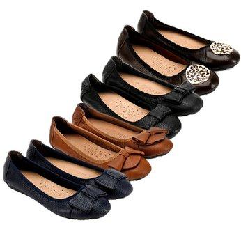 HG7905-06-07-08 - Giày nữ búp bê da bò nhiều màu