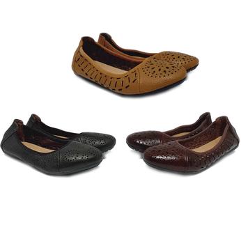HG7947-48-49 - Giày nữ hoa văn Huy Hoàng da bò nhiều màu