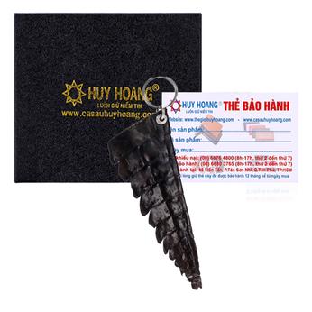 HG8216 - Móc khóa Huy Hoàng da cá sấu gai đuôi màu nâu