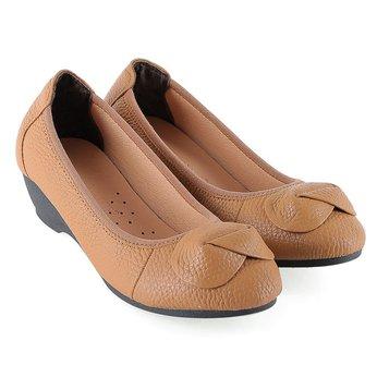 HG7938 - Giày nữ da bò 3 phân màu da