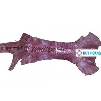 HG1409 - Da thuộc da đà điểu mổ chân đà điểu màu tím