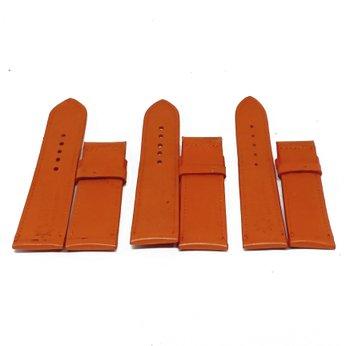 HG8134 - Dây đồng hồ Huy Hoàng da bò size lớn màu cam