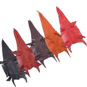 HG1201-02-03-04 Da thuộc da cá sấu mổ bụng nhiều màu