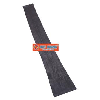 HG1307 - Da thuộc da trăn nguyên con màu đen