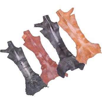 HG1401-02-03-04 - Da thuộc da đà điểu mổ chân đà điểu nhiều màu
