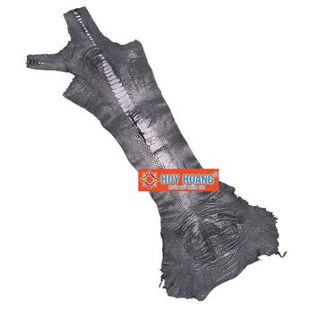 HG1401 - Da thuộc da đà điểu mổ chân đà điểu màu đen