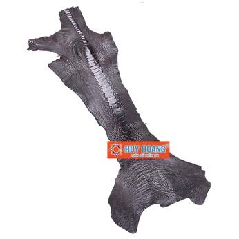 HG1403 - Da thuộc da đà điểu mổ chân đà điểu màu nâu đất