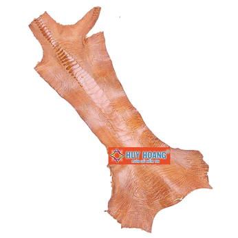 HG1404 - Da thuộc da đà điểu mổ chân đà điểu màu vàng bò