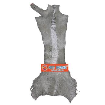 HG1406 - Da thuộc da đà điểu mổ chân đà điểu màu rêu