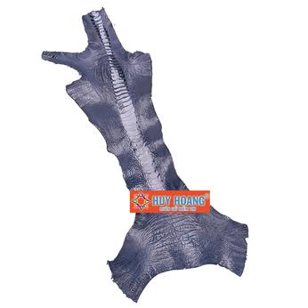 HG1408 - Da thuộc da đà điểu mổ chân đà điểu màu xanh đậm
