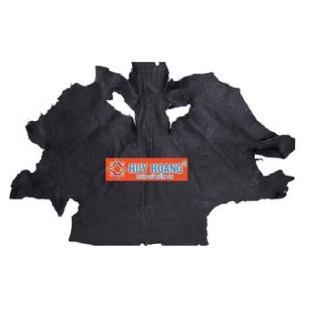 HG1411 - Da thuộc da đà điểu mổ mình đà điểu màu đen