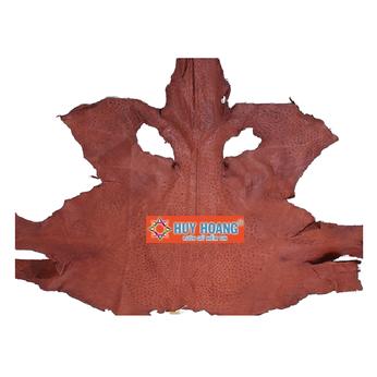 HG1412 - Da thuộc da đà điểu mổ mình đà điểu màu nâu đỏ