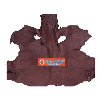 HG1413 - Da thuộc da đà điểu mổ mình đà điểu màu nâu đất