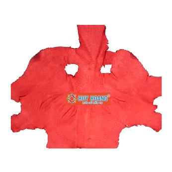 HG1415 - Da thuộc da đà điểu mổ mình đà điểu màu đỏ