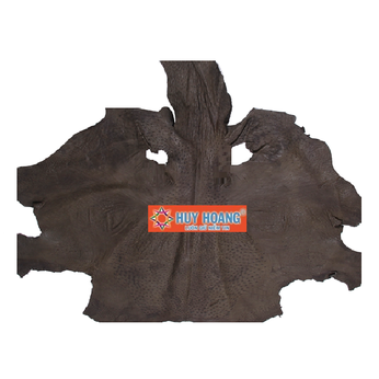 HG1416 - Da thuộc da đà điểu mổ mình đà điểu màu rêu