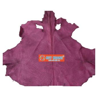 HG1419 - Da thuộc da đà điểu mổ mình đà điểu màu tím