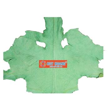 HG1420 - Da thuộc da đà điểu mổ mình đà điểu màu xanh lá cây
