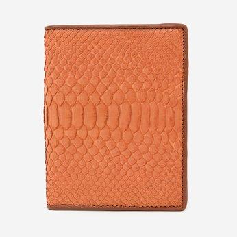 Bóp nam Huy Hoàng da trăn kiểu đứng màu cam HG2318