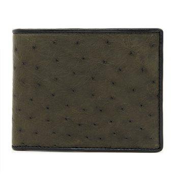 Bóp nam Huy Hoàng da đà điểu da bụng màu xanh rêu HG2432