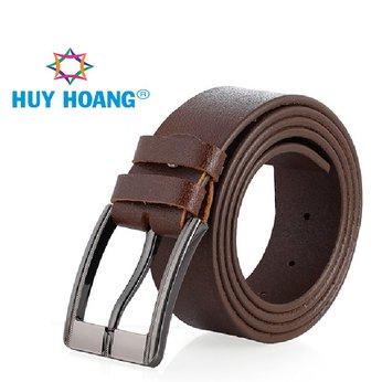 HG4137 - Dây nịt nam Huy Hoàng bát gài bản lớn màu da