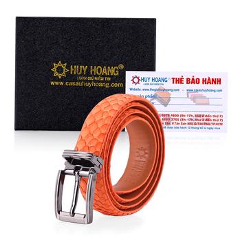 HG5317 - Thắt lưng nữ da trăn Huy Hoàng màu cam