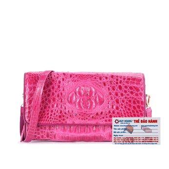 HG6260 - Túi đeo nữ da cá sấu Huy Hoàng màu hồng