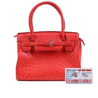 HG6406 - Túi xách Huy Hoàng da đà điểu màu đỏ