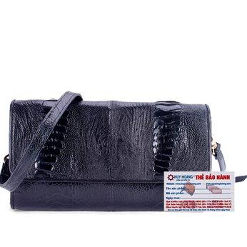 HG6410 - Túi đeo da đà điểu Huy Hoàng víp màu đen