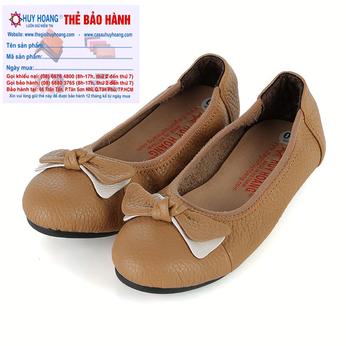 Giày trẻ em nữ Huy Hoàng da bò màu da HG7860