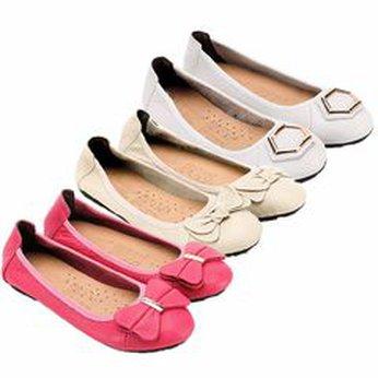HG7912-13-14 - Giày nữ búp bê da bò nhiều màu