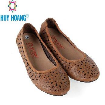 HG7950 - Giày nữ hoa văn Huy Hoàng da bò màu da
