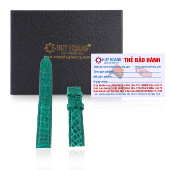 Dây đồng hồ Huy Hoàng da cá sấu màu xanh lá HG8264