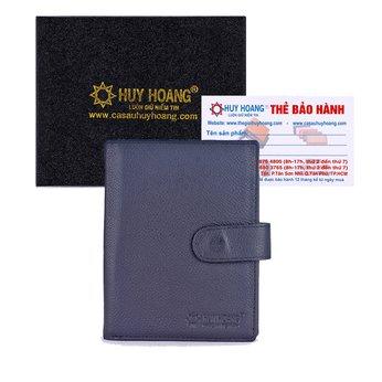 Ví đựng Passport Huy Hoàng bấm nút màu đen HG9108