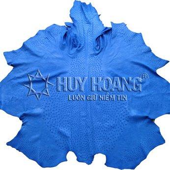 HG1417 - Da thuộc da đà điểu mổ mình đà điểu màu xanh dương