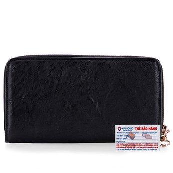 Bóp da đà điểu 2 khóa màu đen HG3440
