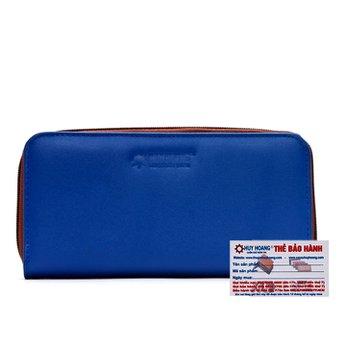 Bóp nữ da bò 1 khóa màu xanh dương HG3147
