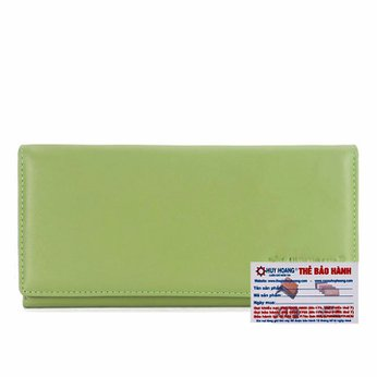 Bóp nữ da bò 2 gấp màu xanh lá cây HG3156