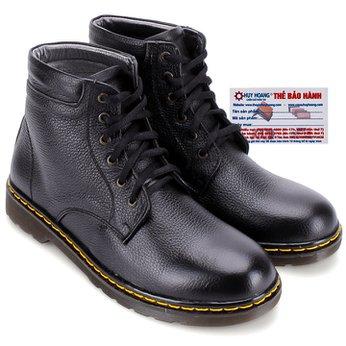 Giày boot nam Huy Hoàng cột dây màu đen HG7721