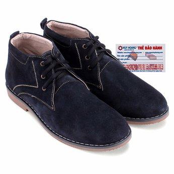Giày boot nam Huy Hoàng da lộn màu xanh đậm HG7192