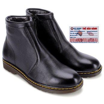 Giày boot nam Huy Hoàng màu đen HG7720