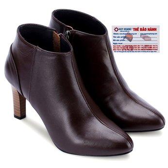 Giày bốt nữ Huy Hoàng da bò màu nâu HG7038
