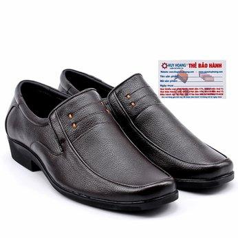 Giày da nam Huy Hoàng da bò màu nâu đen HG7110