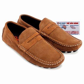 Giày mọi Huy Hoàng da lộn màu bò nhạt HG7701