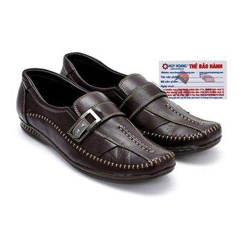 Giày mọi nam Huy Hoàng da bò màu nâu đen HG7114
